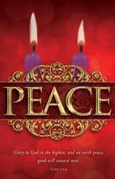 Peace (Luke 2:14) Advent Bulletins, 100