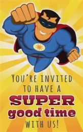 Superhero Invitation (Matthew 18:20, NIV) Postcards, 25