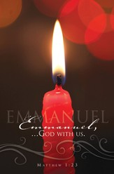 Emmanuel, God With Us (Matthew 1:23) Candlelight Service  Bulletins, 100