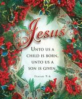 Jesus, Unto Us A Child Is Born (Isaiah 9:6) Large Bulletins, 100