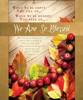 We Are So Blessed (Psalm 103:1-2) Large Bulletins, 100