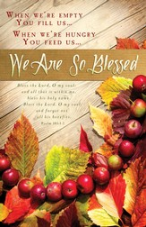 We Are So Blessed (Psalm 103:1-2) Bulletins, 100