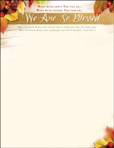 We Are So Blessed (Psalm 103:1-2) Letterhead, 100