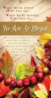 We Are So Blessed (Psalm 103:1-2) Offering Envelopes, 100