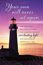 Your Sun Will Never Set Again (Isaiah 60:20, NIV) Bulletins, 100