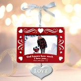 Christmas Photo Frame Ornament; Love