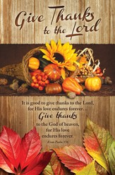 Give Thanks To the Lord (excerpt from Psalm 136) Bulletins, 100