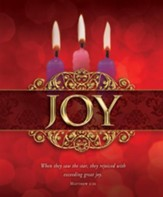 Joy (Matthew 2:10) Large Advent Bulletins, 100