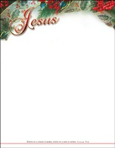 Jesus, Unto Us A Child Is Born (Isaiah 9:6) Letterhead, 100