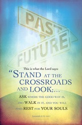 Stand At the Crossroads (Jeremiah 6:16, NIV) Bulletins, 100