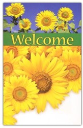 Welcome (Sunflowers), Welcome Pew Cards, Package of 25
