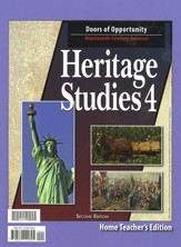 BJU Heritage Studies 4, Home Teacher's Edition