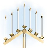 7-Light Candelabra Heads For Fixed Inverted V-Arm (set of 2)