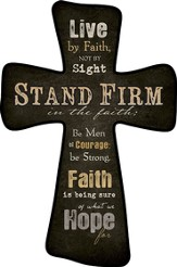Live By Faith Wall Cross