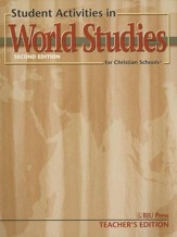 BJU Heritage Studies 7: World Studies, Student Activities   Teacher's Edition