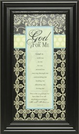 God Is For Me Framed Print
