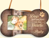 Personalized, Hanging Dog Bone Frame, Dogs Leave Paw Prints On Our Hearts