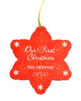 Personalized, Our First Christmas, Snowflake Ornament