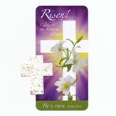 Risen! Celebrate the Living Savior Seedcross and Bookmark