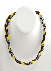 His Armor Titanium Sports Necklace, Black & Gold