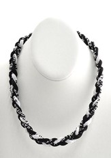 His Armor Titanium Sports Necklace, Black & White