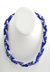 His Armor Titanium Sports Necklace, Blue & White