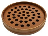 Walnut Finish Wood Communion Tray