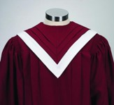 V-Neck Choir Robe, Burgundy (Large Short)