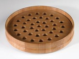Pecan Finish Wood Communion Tray