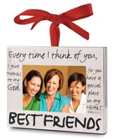 Best Friends Photo Frame Ornament - Slightly Imperfect