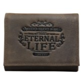 Eternal Life Tri-Fold Wallet, Brown