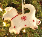Snowflake Dog Ornament, White, Fair Trade Product