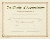Certificate of Appreciation - 12 pack