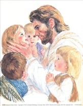 Jesus and the Children - unmounted print