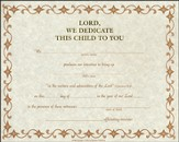 Child Dedication Certificate - 12 pack
