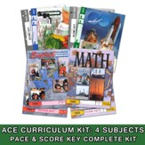 ACE Core Curriculum (4 Subjects), Single Student Complete PACE & Score Key Kit, Grade 3, 3rd Edition (with 4th Edition Science & Social Studies)