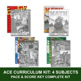 ACE Core Curriculum (4 Subjects), Single Student Complete PACE & Score Key Kit, Grade 5, 3rd Edition (with 4th Edition Social Studies)