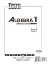 Math 9: Algebra 1, Tests Answer Key