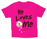 He Loves Me Shirt, Pink, Youth Large