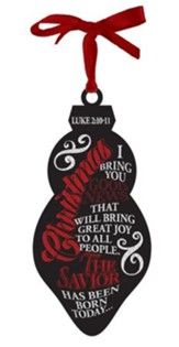 Christmas, Chalkboard Art Ornament