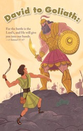 David and Goliath (1 Samuel 17:47) Postcards, 25