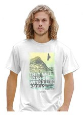 They Will Soar On Wings Like Eagles Shirt, White, Large