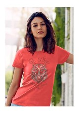Owl, Be Wise Follow Jesus Shirt, Coral, Large