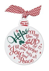 Hope Glittered Wood Ornament
