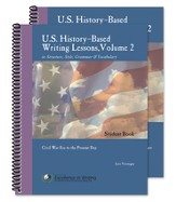 U.S. History-Based Writing Lessons Volume 2: Civil War Era to the Present Day
