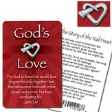 God's Love Lapel Pin and Card