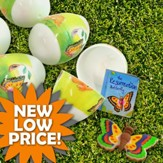 Resurrection Gospel Easter Egg with Butterfly Puzzle, Eraser & Booklet/12