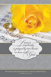 Love's Melody (Psalm 126:3, NIV) Bulletins, 100