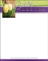 What a Miracle, Moment, Savior (Matthew 28:6) Letterhead, 100