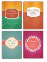 Thoughts & Prayers, Box of 12 Assorted Church Life Card